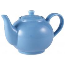 Genware Teapot Blue 45cl-15.75oz