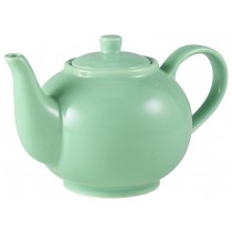 Genware Teapot Green 45cl-15.75oz