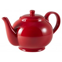 Genware Teapot Red 85cl-30oz