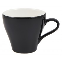 Genware Tulip Cup Black 18cl-6.25oz