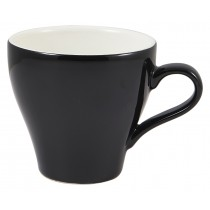 Genware Tulip Cup Black 28cl-10oz