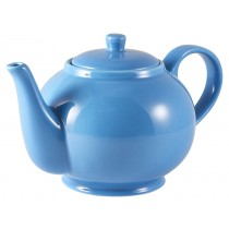Genware Teapot Blue 85cl-30oz
