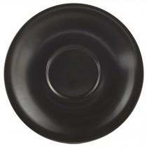 """Genware Saucer Matt Black 13.5cm-5.3"""""""