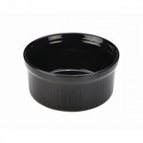 "Genware Stoneware Smooth Ramekin Black 17cl-6oz 9.5cm-3.75"""