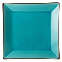 "Utopia Soho Aqua Square Plate 25cm-10"""