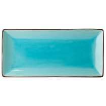 "Utopia Soho Aqua Rectangular Plate 30x14cm-12x5.5"""