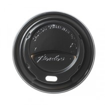 Berties Domed Lid for Hot Cup Black 8/9oz