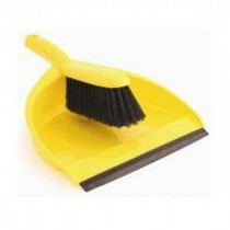 Berties Dustpan & Brush Yellow