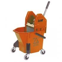 SYR TC20 Mop Bucket & Wringer Red 20Ltr