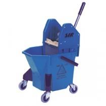SYR TC20 Mop Bucket & Wringer Blue 20Ltr