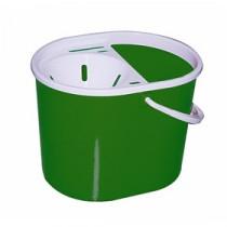 Berties Standard Oval Mop Bucket Green 15Ltr