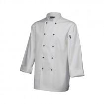 "Genware Superior Chef Jacket Long Sleeve White  XXL 52""-54"""