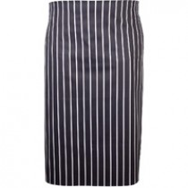 Genware Waist Apron Butchers Stripe Blue and White 71cm x 76cm