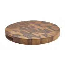 Genware Acacia Wood End Grain Chopping Board 38.5x4cm-15x1.5""