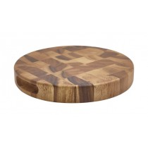 Genware Acacia Wood End Grain Chopping Board 28x4cm-11x1.5""