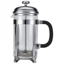 Genware Pyrex Chrome Finish Cafetiere 8 Cup