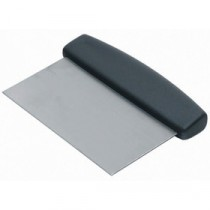 Genware Black Handle Dough Scraper 150x75mm