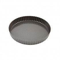 Genware Non Stick Fluted Quiche Tin Loose Base 25cm