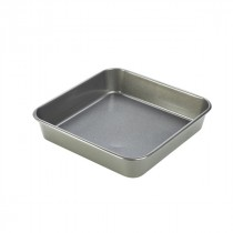 Genware Carbon Steel Non-Stick Square Shallow Cake Pan 23x5cm