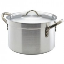Genware Aluminium Heavy Duty Stewpan and Lid 24cm, 7L