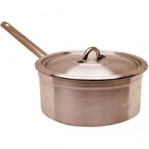 Genware Aluminium Heavy Duty Saucepan and Lid 20cm, 4L