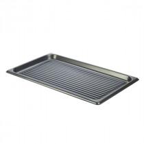 Genware Aluminium Ridged Baking Tray Non-Stick GN 1/1
