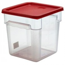 Genware Polyethylene Lid for Food Storage Container Red 5.7L & 7.6L