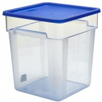 Genware Polyethylene Lid for Food Storage Container Blue 11.4L, 17.1L & 20.9L