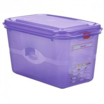 Genware Polycarbonate Allergen Container Purple GN 1/4 150mm Deep 4.3L