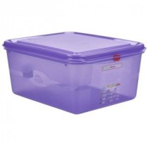 Genware Polycarbonate Allergen Container Purple GN 1/2 150mm Deep 10L