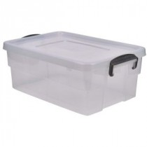 Berties Storage Box 38L With Clip Handles