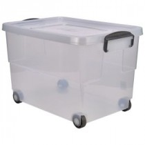 Berties Storage Box 60L With Clip Handles & Wheels