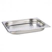 Genware Stainless Steel Perforated Gastronorm Pan 1/2 - 40mm Deep