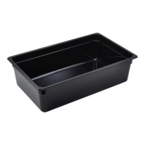Genware Polycarbonate Black Gastronorm 1-1 150mm deep