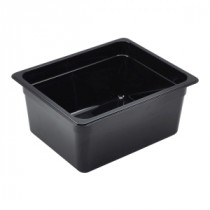 Genware Polycarbonate Black Gastronorm 1-2 150mm deep