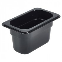 Genware Polycarbonate Black Gastronorm 1-9 100mm deep