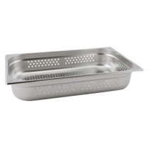 Genware Stainless Steel Perforated Gastronorm 1-1 100mm Deep