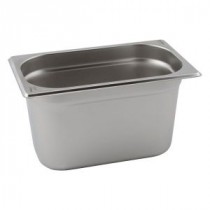 Genware Stainless Steel Gastronorm 1-4 100mm Deep