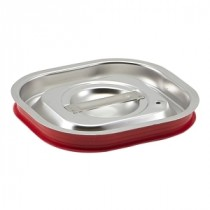Genware Stainless Steel Gastronorm Sealing Pan Lid 1/6