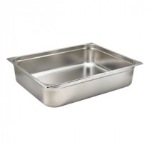 Genware Stainless Steel Gastronorm 2-1 150mm Deep