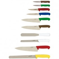 Genware 10 Piece Colour Coded Knife set and Case
