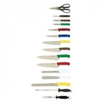 Genware 15 Piece Colour Coded Knife set and Case