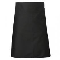 Genware Waist Apron with Pocket Black 90cm x 70cm