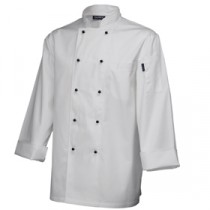 "Genware Superior Chef Jacket Long Sleeve White M 40""-42"""