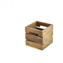 Genware Acacia Wood Box/Riser 15x15x15cm