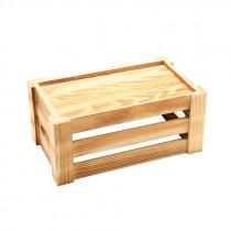 Genware Wooden Crate Rustic 27x16x12cm