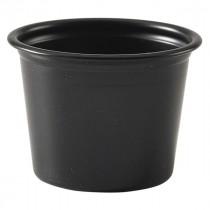 Genware Plastic Ramekins Black 2.8cl-1oz