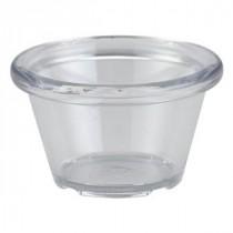 Genware Clear Plastic Smooth Ramekin 4.3cl-1.5oz
