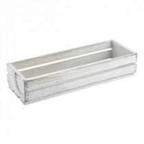 Genware Wooden Crate White Wash 34x12x7cm