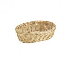 Genware Polywicker Oval Basket 22.5x15.5cm